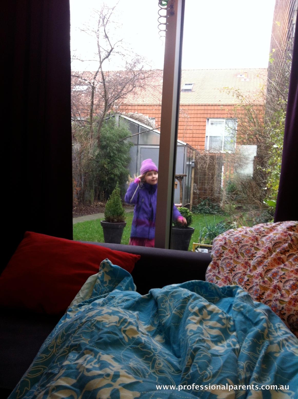 sophia in the garden