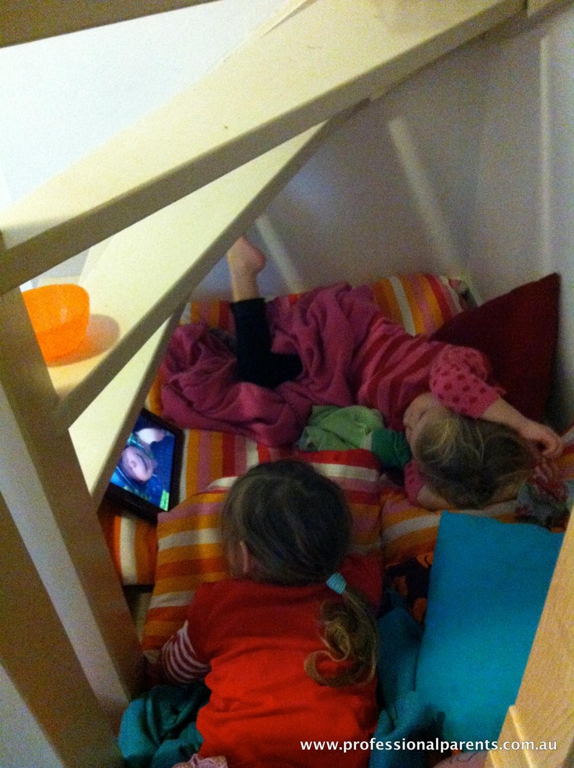 cinema under stairs