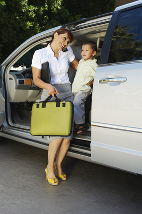 Business woman with son