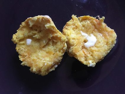 Pumpkin Scones with butter