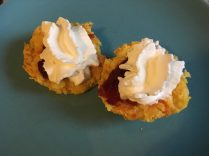 Pumpkin Scones with jam and cream